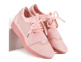 Úžasné růžové tenisky se šňůrkou