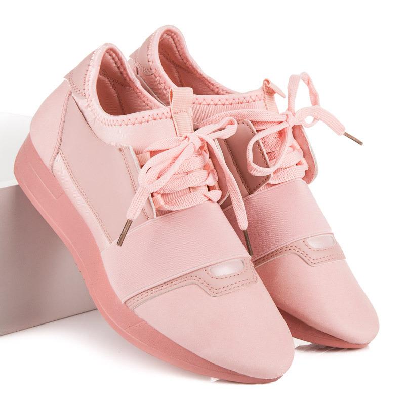 Štýlové   ružové dámske bez podpätku