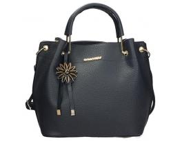 Elegantní dámská kabelka s ozdobou v granátové barvě